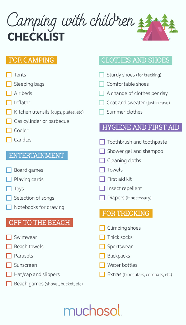 checklist-camping-children