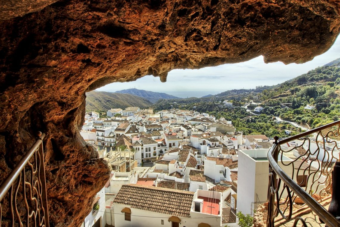 white towns of andalusia views spain