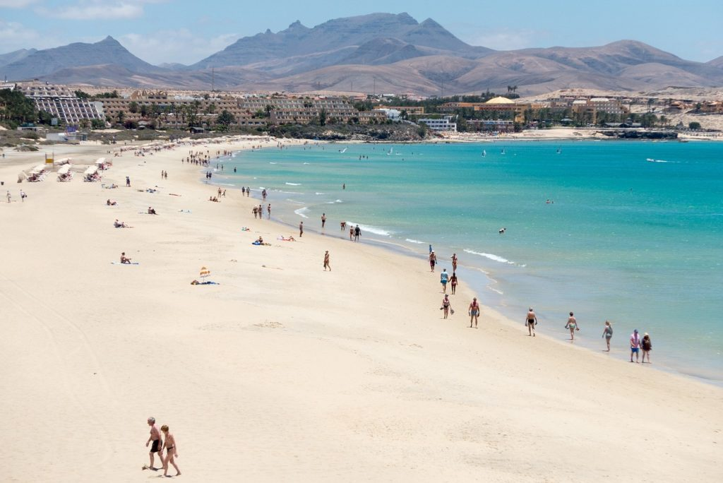 fuerteventura spanish islands blue sea white sand