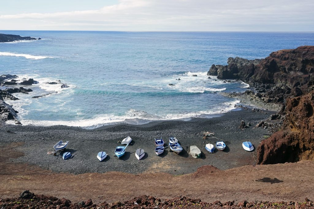 spanish islands black beach lanzarote