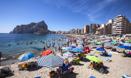 calpe spain levante beach