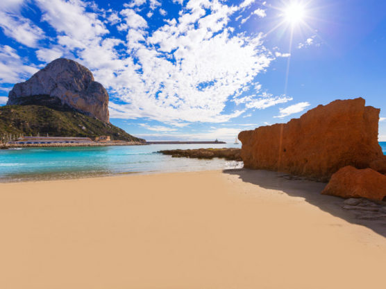 beaches of the costa blanca Cantal Roig Beach
