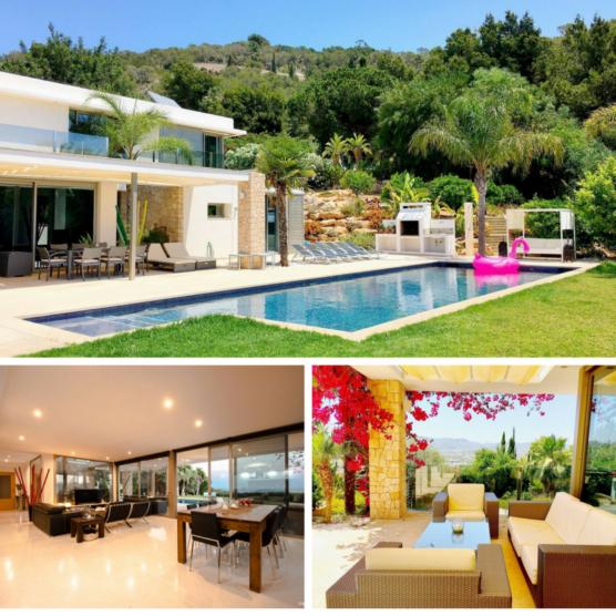 villas on ibiza modern style