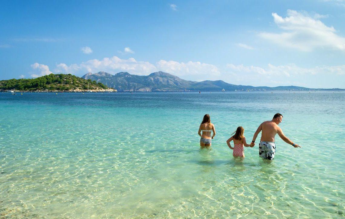 ibiza with kids beach family