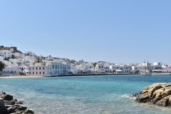 greek islands mykonos beach