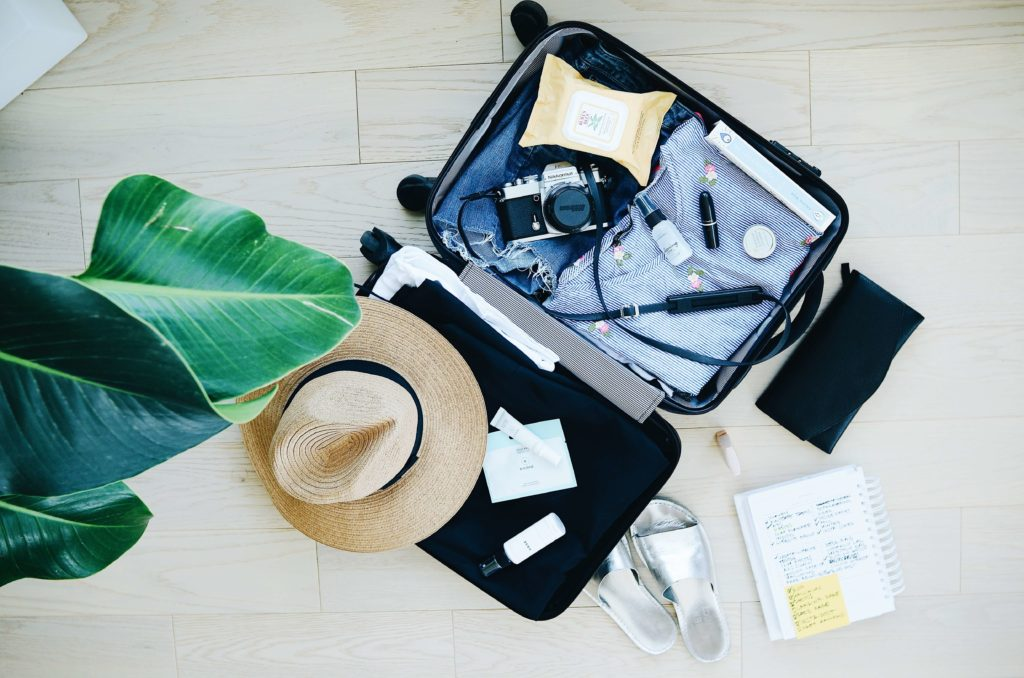 how to pack a suitcase open bag
