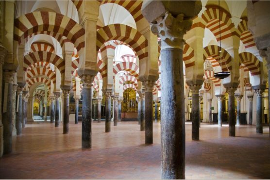 The inside of Cordoba´s mosque