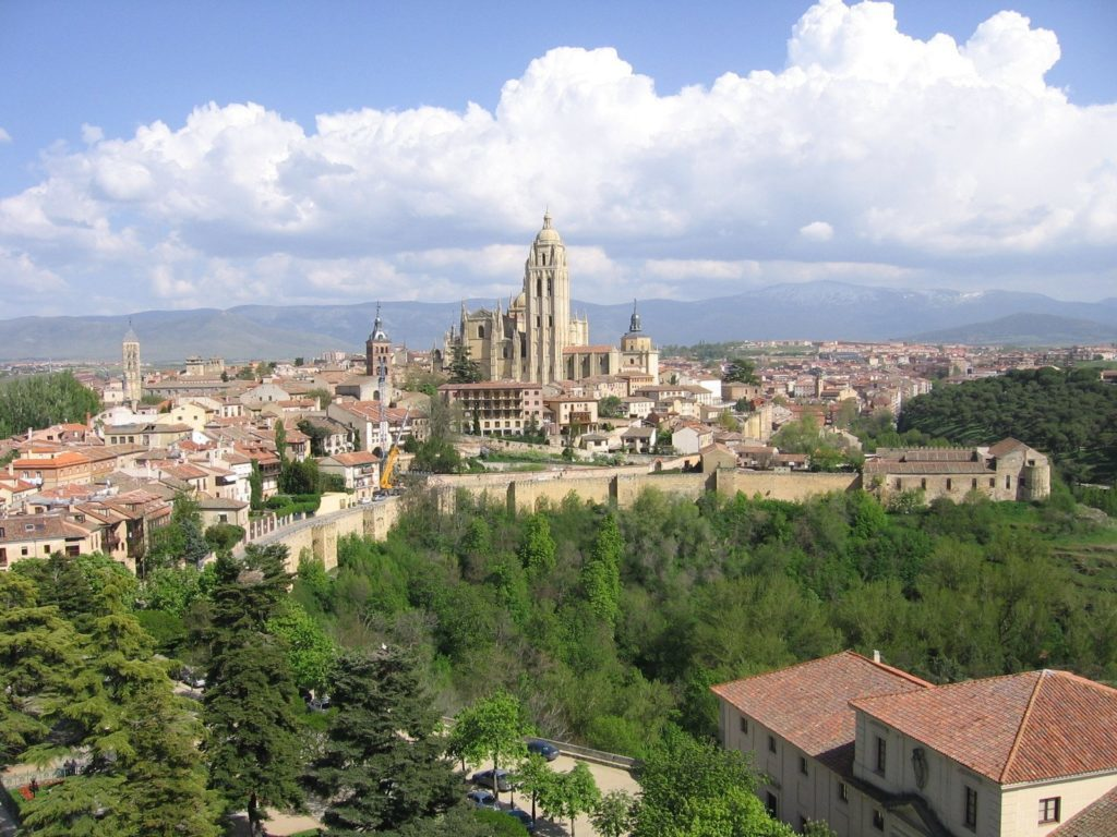 View if the Alcázar fortress in Segovia